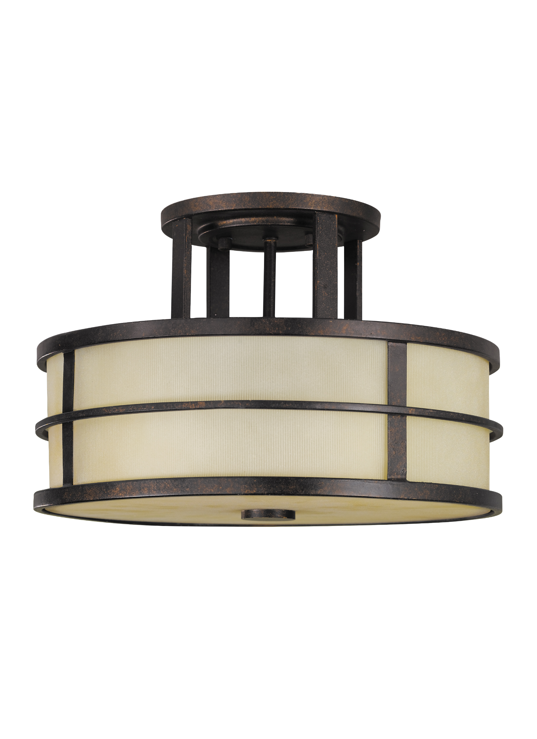 SF217GBZ 3 Light Indoor Semi Flush Mount Grecian Bronze