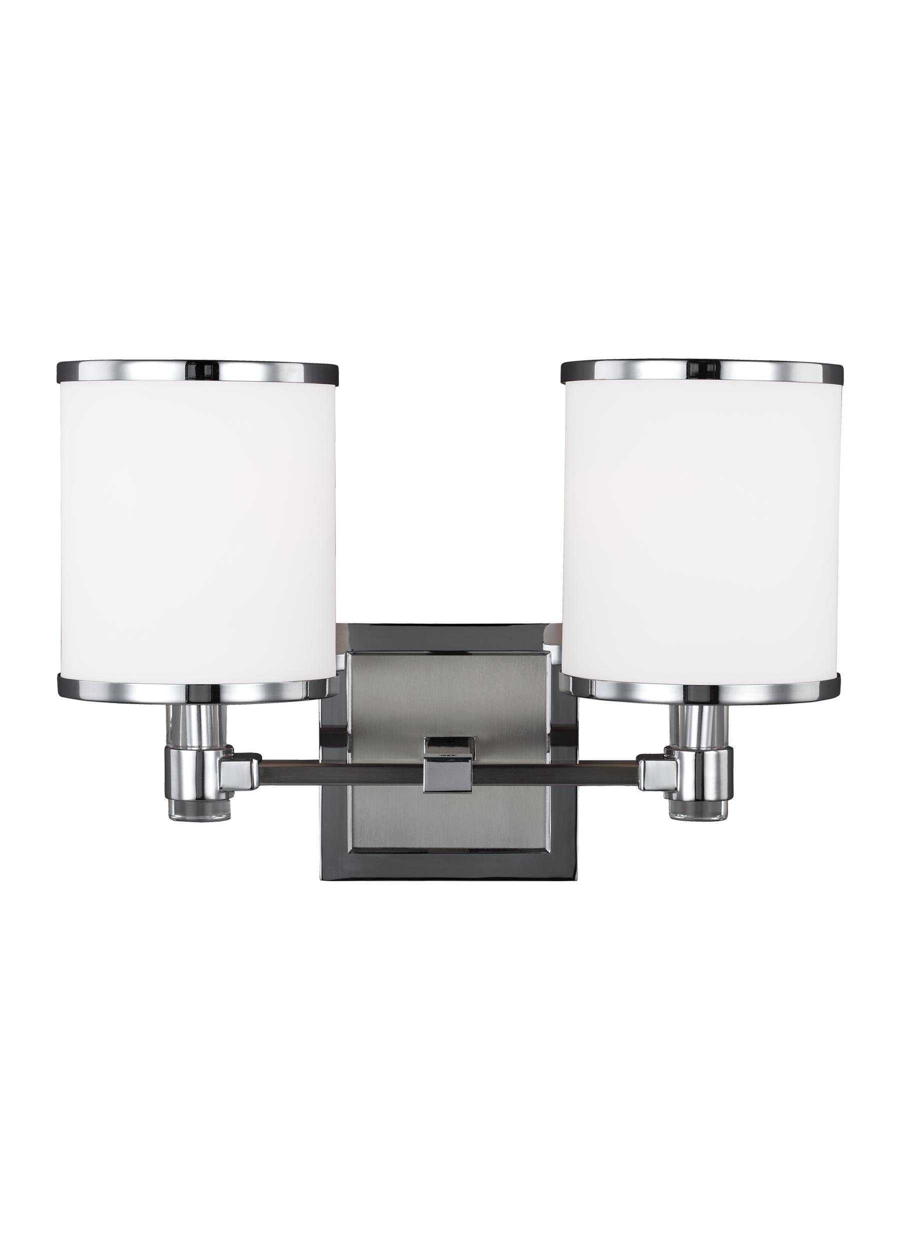 Vs23302sn Ch 2 Light Vanity Satin Nickel Chrome